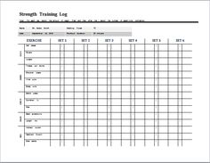 Face sheet template at word microsoft for Weight training log template