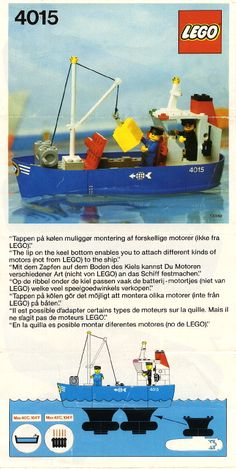Thousands of complete step-by-step printable older LEGO® instructions for free. Here you can find step by step instructions for most LEGO® sets. Lego Coast Guard, Durham Museum, Lego Boat, Lego Trains, Vintage Lego, Lego Group, Lego Projects, Lego Stuff, Lego Instructions