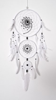 Blanco Dream Catcher gran atrapasueños por MagicalSweetDreams