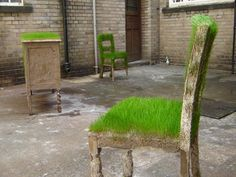 grass on furniture
