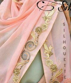 Neeta k doshi Embroidery Suits Design, Hand Work Embroidery, Hand Embroidery Designs, Applique Designs, Floral Embroidery, Desi Wedding Dresses, Pakistani Wedding Outfits, Indian Outfits, Silk Kurti Designs