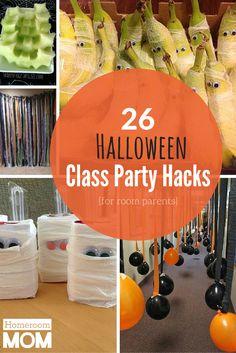 26 Hacks for Your Halloween Classroom Party! | HomeroomMom.com
