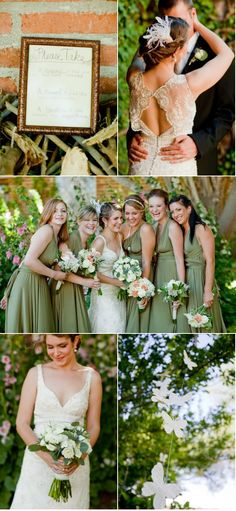 Love the shade of green in these bridesmaids dresses...this bride has all round good taste