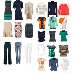 """""""Navy Capsule Wardrobe"""" by elcer on Polyvore"""