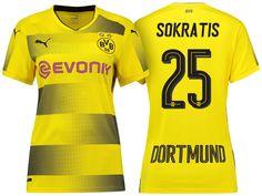 Borussia Dortmund #25 Sokratis Papastathopoulos 17-18 Home Short Shirt Women