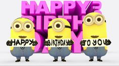 Minions Happy Birthday Gif and images for loved ones. Funny Birthday Quotes and Wishes for Minions Cartoon Fans. Happy Birthday Song Youtube, Happy Birthday Wishes Song, Birthday Wishes And Images, Happy Birthday Video, Happy Birthday Pictures, Birthday Songs, Singing Happy Birthday, Happy Birthday Nephew Funny, Wishes Images