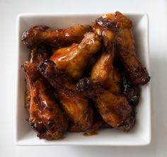 Roasted Teriyaki Hot Wings - bariatric friendly, awesome Super Bowl food!