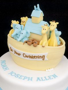 Christening cakes / Noah's Ark Christneing cake. Cake ideas from theCakeWorks