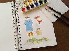 Summer #watercolor atelierjoliz.com.br