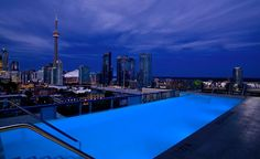 The rooftop pool at the Thompson Toronto has views of Lake Ontario and the Toronto skyline (including the CN Tower, of course). (From: Photos: 11 Amazing New Hotel Pools)