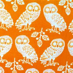 Owl Fabric by Katherine Rally Textiles from Indonesia