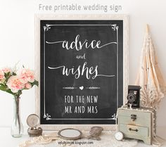 FREE Chalkboard Fonts For Wedding Signs Printable Wedding Signs - Free wedding sign templates