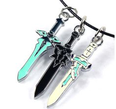 Now available on our store : SWORD ART ONLINE ...   SHOP HERE : http://pica-collection.com/products/sword-art-online-kirito-asuna-mini-swords-necklace?utm_campaign=social_autopilot&utm_source=pin&utm_medium=pin