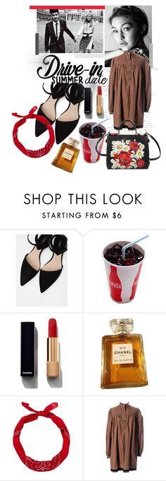"""Summer Date"" by karimaputri on Polyvore featuring MANGO, Chanel, New Look, Yves Saint Laurent, Dolce&Gabbana, DateNight, drivein and summerdate"