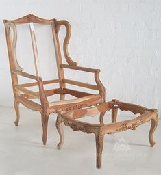 Traditional Wing Chair with Footstool / Wing Chair with Footstool / Dutch Connection