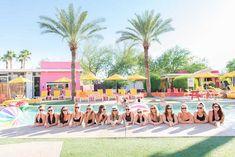 A desert pool party bachelorette weekend getaway at The Saguaro in Scottsdale, Arizona. Desert Bachelorette Party, Bachlorette Party, Bachelorette Weekend, Bachelorette Ideas, Pool Party Decorations, Bachelorette Party Decorations, Palm Springs Pool Party, Weekend Getaways, Scottsdale Arizona