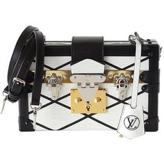 Pre-owned LOUIS VUITTON Petite MALLE Epi Trunk bag White Limited... ($7,845) ❤ liked on Polyvore featuring bags, handbags, handbags and purses, crossbody handbags, messenger bag, white crossbody, messenger bag purse and crossbody messenger bag