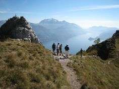 Hiking trail overlooking Lake Como and the village of Menaggio in Northern Italy.  There is an extensive network of trails and shelters if you wish longer hikes.