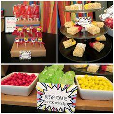 Super hero party snacks