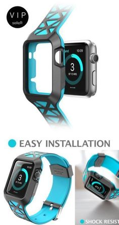 2 in-1 Apple Watch 2 Case Band Premium Protective Bumper Sport For iWatch 42mm #iBlason