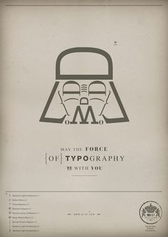 May the force of Typography be with you    this would fit on at least three of my pinboards. what does that say about me?