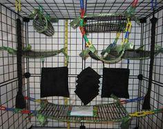 15 pc FULL MESH Sugar Glider Cage Set - Rat - Digital Camo