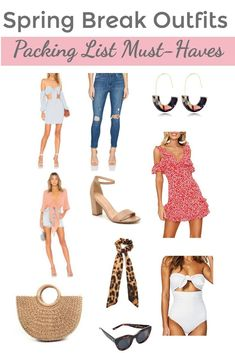 Spring Break Outfits: Wardrobe & Packing List Must-Haves - Hat on the Map Spring Break Fashion Summer Outfits For Moms, Mom Outfits, Spring Outfits, Spring Fashion Trends, Spring Summer Fashion, Spring Break, Style Summer, Spring Hats, Winter Fashion