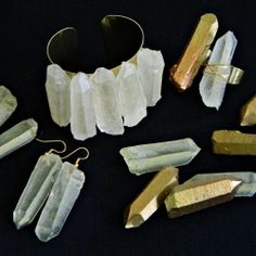 Make lightweight faux quartz crystal jewelry that looks just like the real thing! So much easier to wear, too.