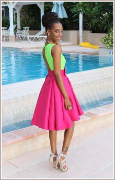2 colour maxi dress styles