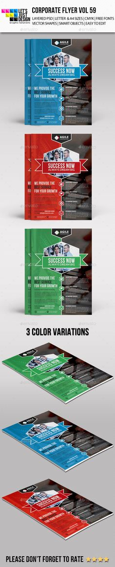A4 Corporate Flyer Template Vol 59 — Photoshop PSD #business flyer #technology consulting
