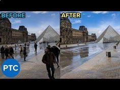 In this tutorial, you will learn how to remove people from photos in photoshop. This is the perfect technique for removing people from your vacation photos. Photoshop Tutorial, Photoshop Youtube, Photoshop Images, Photoshop For Photographers, Photoshop Photography, Photoshop Actions, Landscape Photography, Adobe Photoshop, Photography Tips