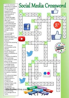 Social Media Crossword (Key)