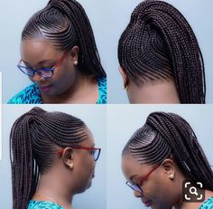 New Braided Hairstyles Hi dearies, it is time to change your hairstyle and look. Now we have the new braided hairstyles 2018 to bring smile New Braided Hairstyles, Ghana Braids Hairstyles, My Hairstyle, African Hairstyles, Girl Hairstyles, Ponytail Hairstyles, Hairstyles 2018, Black Hairstyles, Corn Row Hairstyles