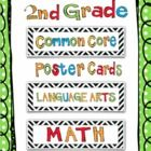 This cute set includes all of the Common Core Standards for Second Grade and contains over 110 math and language arts standards for you to print an...