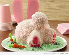 Bunny Butt Cake - How Cute!