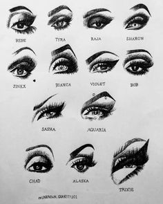Date: Unknown Technique: Eye shape/ illusions using make up Source: Eyes of the Winner drag Example of: changing eye shape Drag Queens, Makeup Inspo, Makeup Inspiration, Valentina Drag, Rupaul Drag Queen, Queen Drawing, Violet Chachki, Trixie And Katya, Drag Queen Makeup
