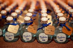 Latin inspired tequila wedding ~ Don Julio Blanco tequila adorned with custom labels ~ nice!