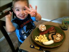 Thanks for being a part of my little birthday boys breakfast! Loved his Blueberry Whole Wheat Oat pancakes. from @caloah...Love it!