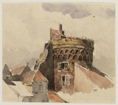 Jan Weissenbruch (1822-1880). De stadswal van Deventer, ongedateerd Waterverf op papier, 17,2 x 20,2 cm Teylers Museum, Haarlem