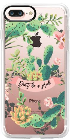 Casetify Protective iPhone 7 Plus Case and iPhone 7 Cases. Other Cacti iPhone Covers - Cactus Garden - Don't Be A Prick by Ruby Ridge Studios | Casetify