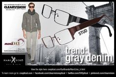 MensDay! It's all about Gray Denim. Finish your look with Marc Ecko Cut and Sew Stud Frames