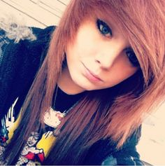 natural red hair and long length:) pretty. @taylorterminate is her instagram