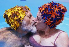 Kissing is better with flowers on your head.