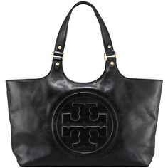 Tory Burch Bombe Burch Tote ($450) ❤ liked on Polyvore