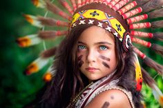 Photography Child  Girl Native American Indian Wallpaper