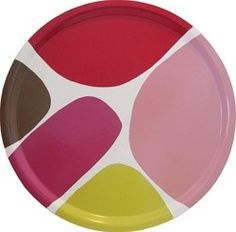 camp cirrus bumling colorblock round tray - red