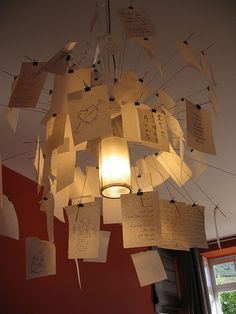 Love Notes Chandelier by Bellyglad, via Flickr  I want this for my room!