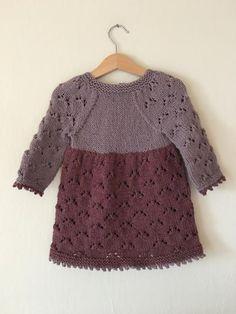 Ravelry: Estella Dress pattern by Anne Dresow Lace Patterns, Dress Patterns, Knitting Patterns, Pattern Skirt, Baby Knitting, Crochet Baby, Knit Crochet, Knit Baby Dress, Knit Picks