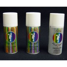 Chefmaster Edible Spray in metallic colors, One 2-Ounce Can. Kosher Certified