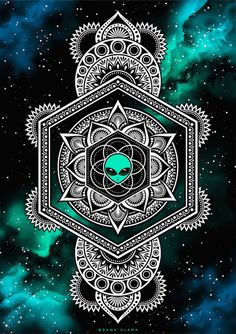 New art drawings trippy illustrations Ideas Mandala Design, Mandala Art, Arte Alien, Alien Art, Alien Drawings, Art Drawings, Drawing Art, Psychedelic Art, Arte Hippy